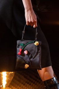 Prada Black Floral Embellished Mini Bag - Fall 2019