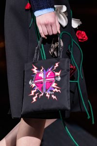 Prada Black Heart Print Mini Bag - Fall 2019