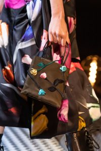Prada Brown Floral Embellished Mini Bag - Fall 2019