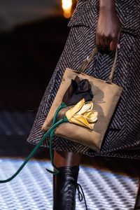 Prada Light Brown Floral Embellished Mini Bag - Fall 2019