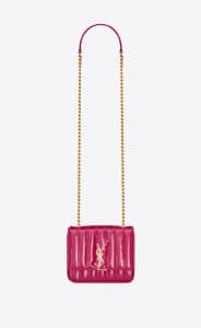 Saint Laurent Freesia Patent Matelassé Vicky Small Bag