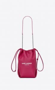 Saint Laurent Freesia Teddy Pouch Bag