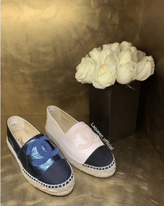 Chanel Blue and White Espadrilles