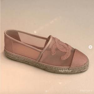 Chanel Pink Mesh Espadrilles