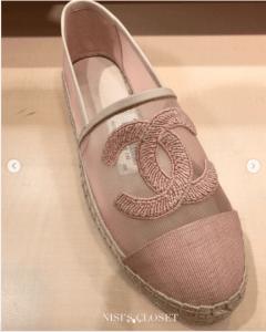 Chanel Pink Mesh Espadrilles 2