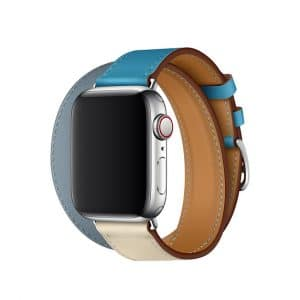 Apple Watch Hermès - 40mm Bleu Lin:Craie:Bleu du Nord Swift Leather Double Tour 2