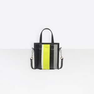 Balenciaga Acid Green:Black Bazar Shopper XXS Bag