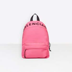 Balenciaga Acid Pink Nylon Wheel Backpack S Bag