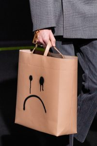 Balenciaga Beige Sad Face Shopping Bag - Fall 2019