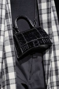 Balenciaga Black Crocodile Embossed Mini Top Handle Bag 2 - Fall 2019