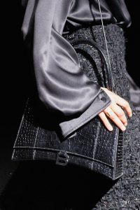 Balenciaga Black Crocodile Embossed Top Handle Bag - Fall 2019