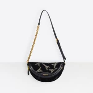 Balenciaga Black Eiffel Tower Souvenirs XXS Belt Bag