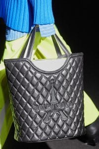 Balenciaga Black Quilted Shopping Bag - Fall 2019