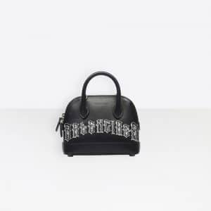 Balenciaga Black/White Tattoo Ville Top Handle XXS Bag
