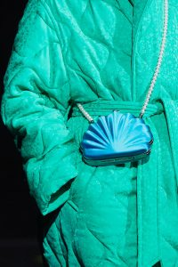 Balenciaga Blue Seashell Minaudiere Bag - Fall 2019