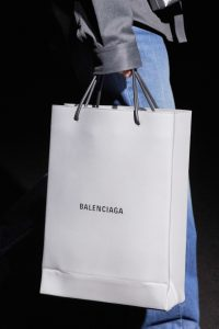 Balenciaga Gray Logo Shopping Bag - Fall 2019