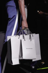 Balenciaga Gray Logo Small and Large Shopping Bags - Fall 2019