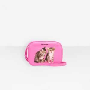 Balenciaga Neon Pink Kitten Everyday Camera XS Bag