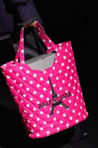 Balenciaga Pink Polkadots Quilted Shopping Bag - Fall 2019