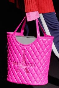 Balenciaga Pink Quilted Shopping Bag - Fall 2019