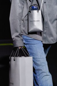 Balenciaga Silver Mini Shopping Bag - Fall 2019