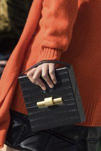 Bottega Veneta Black Crocodile Box Bag - Fall 2019
