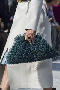 Bottega Veneta Blue Green Leather Clutch Bag - Fall 2019