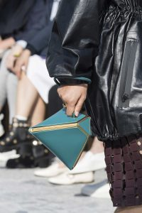 Bottega Veneta Turquoise Clutch Bag - Fall 2019