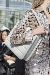 Bottega Veneta White Quilted Tote Bag - Fall 2019