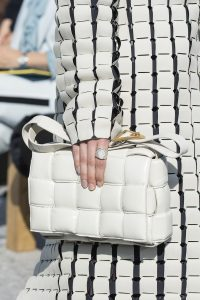 Bottega Veneta White Shoulder Bag - Fall 2019