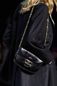 Celine Black Python Flap Bag - Fall 2019