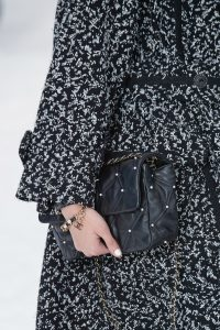 Chanel Black Pearl Embellished Flap Bag - Fall 2019
