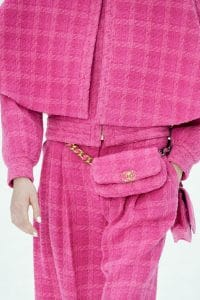 Chanel Pink Tweed Belt Bag - Fall 2019