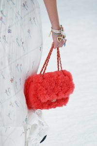 Chanel Red Fur Flap Bag - Fall 2019