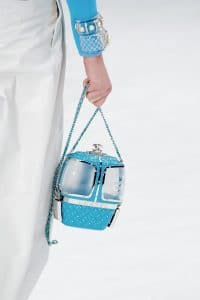 Chanel Turquoise Cable Car Minaudiere Bag - Fall 2019
