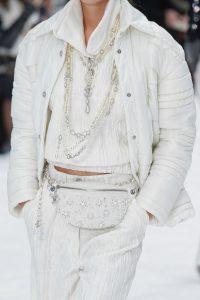 Chanel White Embellished Belt Bag - Fall 2019