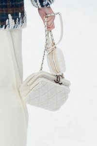 Chanel White Fabric Mini Bags - Fall 2019