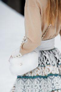 Chanel White Fur Flap Bag - Fall 2019