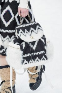 Chanel White/Black Fur Backpack Bag - Fall 2019