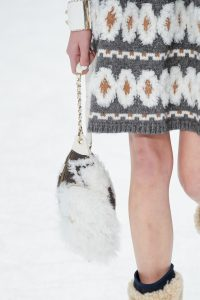 Chanel White/Brown Fur Hobo Bag - Fall 2019