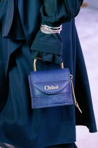 Chloe Blue Lizard Mini Top Handle Bag - Fall 2019