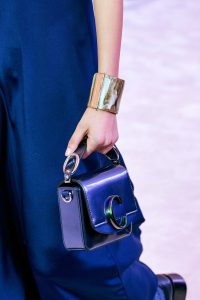 Chloe Metallic Blue Mini C Bag - Fall 2019