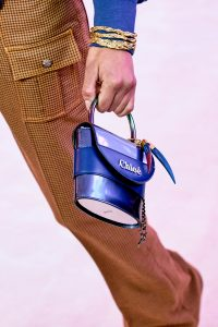 Chloe Metallic Blue Mini Top Handle Bag - Fall 2019