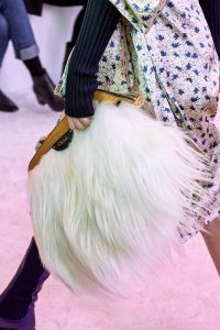 Chloe White Fur Clutch Bag - Fall 2019