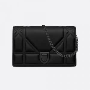 Dior Black Ultra Matte Diorama Clutch Bag