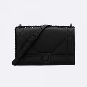 Dior Black Ultra Matte Medium Diorama Bag