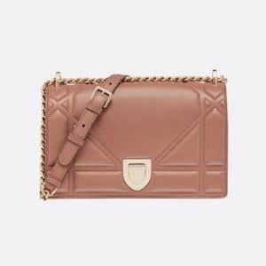 Dior Blush Powder Calfskin Medium Diorama Bag