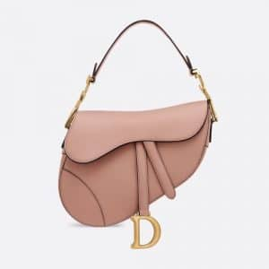 Dior Blush Powder Calfskin Medium Saddle Bag