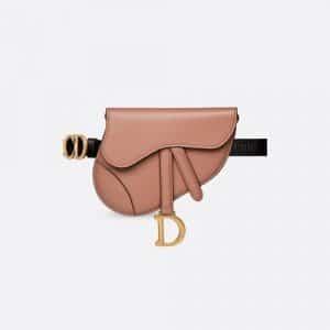 Dior Blush Powder Calfskin Saddle Belt Bag