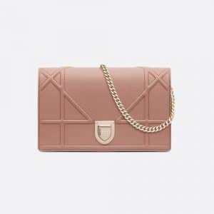 Dior Blush Powder Diorama Clutch Bag